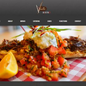 Web Design Melbourne - Web Initiatives - Vanille Bistro Cafe Pakenham