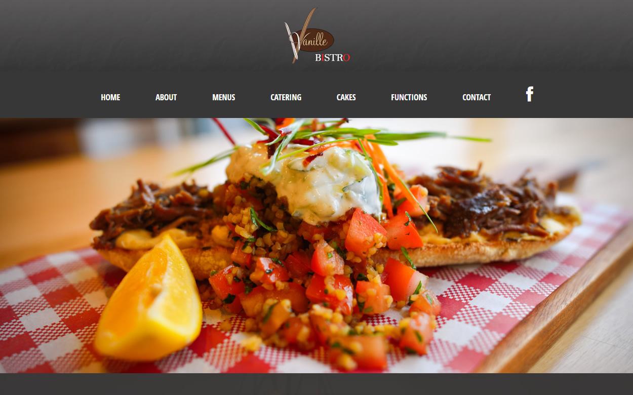 Web Design Melbourne - Web Initiatives - Vanille Bistro Cafe Pakenham